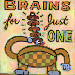 Hal Mayforth - Too Many Brains for One Hat Giclee Print From Hal Mayforth - Limited Edition
