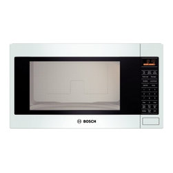 """Bosch - 500 Series HMB5020 24"""" 2.1 cu. ft. Capacity Built In Microwave Oven with 1 200 C - Bosch brings you only the best this 21 cu ft Built-in Microwave will complete your kitchen With 1200 Cooking Watts you will be able to cook dishes quickly and evenly The 10 Power Levels will help you cook a variety of foods with the push of a button ..."""