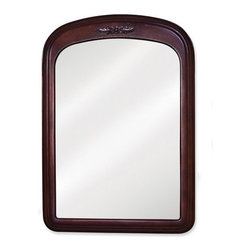 Elements - Elements MIR031 Emilia Collection Rounded 21 x 30 Inch Bathroom Vanity Mirror - This fashionable vanity mirror from Element's Emilia Collection features a rounded, portrait-hung design that's perfect for complementing a variety of bathroom decor. Boasting elegant craftwork and gorgeous beveled glass, this mirror is the ideal choice for completing any bathroom makeover.Vanity Mirror: Designed to accompany the Elements vanity VAN031. This mirror looks great as either part of a vanity set, or as a standalone accessory. Features: