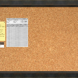 Amanti Art - 'Signore Cork Board - Large' Framed Art Print 40 x 28-inch - A beautifully framed cork board turns everyday notes and messages into an ever evolving work of art. This Signore Cork Board features an angled bronze frame with espresso patina has burnished beading on the outer edge and reversed angle on the inner edge.