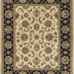 "Loloi Rugs - Loloi Rugs Maple Collection - Beige / Black, 2'-3"" x 8' - Transform your home into a manor steeped in elegance and tradition with the majestic Maple Collection. These timeless Persian designs carry the rich heritage of centuries of carpet making in each arabesque, stylized flower and intricate border. Maple Collection rugs are hand-tufted in India of 100-percent wool so they are eco-friendly and mindfully crafted with sustainable materials. With colors as rich as these, you will feel like nobility every time you walk into your home."
