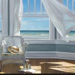 Artcom - Gentle Reader by Karen Hollingsworth - Gentle Reader by Karen Hollingsworth is a Stretched Canvas Print.