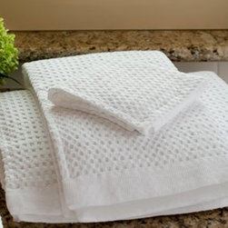 Gilden Tree - Modern Design Waffle Towel Set - Our premier 100% cotton, high-design waffle bath towels now come in a fabulous set, including 2 bath towels, 2 hand towels and 2 washcloths!  It's a wonderful way to add texture and a pop of color to a bathroom, and a lovely wedding or anniversary gift - especially when you add a monogram.  It's also a great way to make a fresh start in your own bath, or home spa.