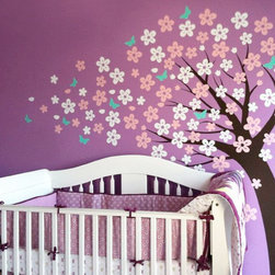Cherry Blossom Tree - Cute Style - This trailing cherry blossom tree adds a cute twist to our original cherry blossom tree. Perfect for your baby nursery, kid's bedroom and playroom!