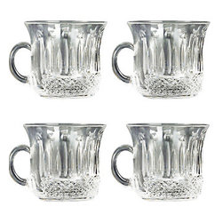 Godinger Silver - King Louis Crystal Punch Cups - Put the punch in your party with these King Louis's punch cups. Its unique cut crystal designs will surely excite you and fascinate those who see it. Crystal clear, this set of four punch cups will match any decor. It will make a great addition to any home entertaining collection. Dimensions: 4 x 3 x 2 inches.