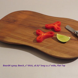 Hand-Carved Beech Serving & Cutting Board $40 SOLD - Functional & Beautiful. These pieces strike a balance between Beauty & Utility, Old & New, Rustic & Refined. Food-bearing surface is smooth, solid & practical. Clean with warm soapy water. FREE 4oz container of 100% FoodSafe BeesWax & Mineral Oil Conditioner with each purchase.