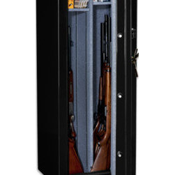 Stack-on TD-14-GG-C Gun Safe Total Defense Fire Resistant & Waterproof Safe w/ C - Stack-on TD-14-GG-C Gun Safe Total Defense Fire Resistant & Waterproof Safe w/ Combination Lock - 14-Gun includes a hardened steel back plate behind the lock for greater security. This safe offers a reliable organized storage unit for your guns and ammo while maintaining their security.