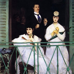 "Edouard Manet The Balcony - 16"" x 24"" Premium Archival Print - 16"" x 24"" Edouard Manet The Balcony premium archival print reproduced to meet museum quality standards. Our museum quality archival prints are produced using high-precision print technology for a more accurate reproduction printed on high quality, heavyweight matte presentation paper with fade-resistant, archival inks. Our progressive business model allows us to offer works of art to you at the best wholesale pricing, significantly less than art gallery prices, affordable to all. This line of artwork is produced with extra white border space (if you choose to have it framed, for your framer to work with to frame properly or utilize a larger mat and/or frame).  We present a comprehensive collection of exceptional art reproductions byEdouard Manet."