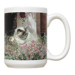 170-Sweet Alyssum Mug - 15 oz. Ceramic Mug. Dishwasher and microwave safe It has a large handle that's easy to hold.  Makes a great gift!