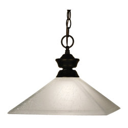 Z-Lite - Z-Lite Pendant Light X-31LWM-ZRB107001 - Bold styling defines this Pendant Light. Finished in bronze, this fixture uses a mission white linen shade to create a modern look. This fixture includes 36'' of chain to ensure a perfect hanging height.
