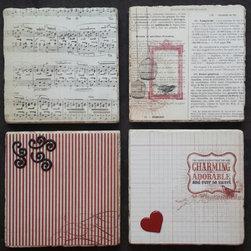 Handmade Vintage Coastes- Set of 4 (Handmade in the USA) -