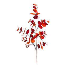 Silk Plants Direct - Silk Plants Direct Eucalyptus Leaf (Pack of 12) - Orange Brick - Pack of 12. Silk Plants Direct specializes in manufacturing, design and supply of the most life-like, premium quality artificial plants, trees, flowers, arrangements, topiaries and containers for home, office and commercial use. Our Eucalyptus Leaf includes the following: