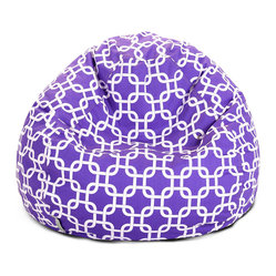 Indoor Purple Links Small Bean Bag