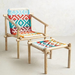 Diamond-Weave Chair, Multi - Let this Diamond-Weave chair help you to enjoy friends and the outdoors on a summer night.