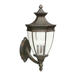 Kichler - Kichler Warrington 3-Light Tannery Bronze Wall Lantern - 9372TZ - This 3-Light Wall Lantern is part of the Warrington Collection and has a Tannery Bronze Finish. It is Outdoor Capable.
