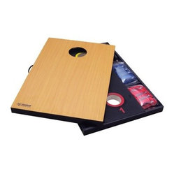 Triumph Sports 2-in-1 Cornhole and 3 Hole Washer Combo Set