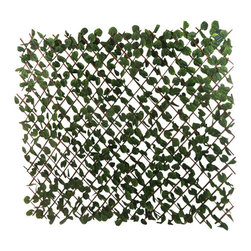 "Master Garden Products - Expandable Faux Ivy  Leaves Privacy Fence,  72""W x 60""H, Set of 4 - Our faux ivy privacy expandable trellis fences will create an instant privacy screen.  Just open and extend the trellis, can expand 6' long, 4' or 5' feet high. This faux fence is great for backyard events, or use them for privacy in your yard to hide unwanted views, and enhance the look of your property. It features realistic green fade-resistant polyester ivy leave."