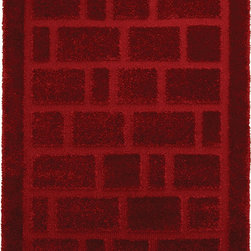 """Home Dynamix - Home Dynamix Rug, Red, 3' 11"""" x5' 2"""" - The Structure Collection by Home Dynamix."""