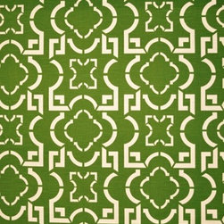 Barclay Butera Textiles - BEDOUIN PONGEE - CLASSIC COLLECTION. Green & White Abstract