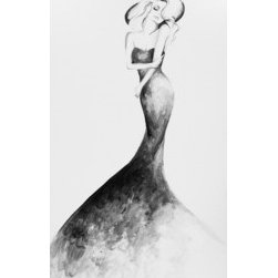 Classic Elegance (Original) by Lindsey Kate - As a fashion illustrator, I was inspired to bring pieces to life on a larger scale for the home. Within each piece I create, I aim to capture the strength, confidence, and beauty of the female form, however I invite each person to create their own story as they view my work. A woman always has a bit of mystery to her as well, and I think each viewer being able to create that narrative, makes art endlessly exciting. This piece, being black and white, could fit into nearly any home or space as either a statement piece or among other works to create a stylish, creative vibe.