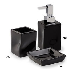 StilHaus - Faul Colored Ceramic Bathroom Accessory Set - Modern, trendy bathroom accessory set which includes toothbrush holder, soap dispenser, and soap dish. Collection made of ceramic and brass. Ceramic available in 6 colors. Bathroom accessory set. Made out of ceramic and brass. Ceramic available in 6 colors. Great Value. From the StilHaus Faul collection. Included in set:. Toothbrush Holder StilHaus 793. Soap Dispenser StilHaus 795. Soap Dish StilHaus 794.