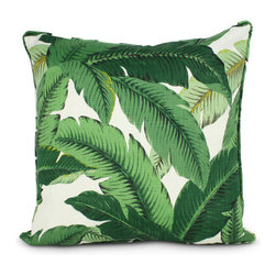 Palm Beach Pillow Cover - Get the feel of being in a tropical paradise with these colorful and beautifully designed throw pillows.