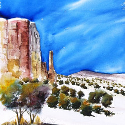 Canyonlands VII - Original Watercolor Painting - This is the seventh in a series I have started called Canyonlands.  Throughout my life I have been inspired by the magnificent landscape of the west, especially those special places where the rock soars.