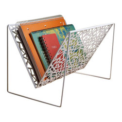 Design Ideas - Network Magazine Rack White by Design Ideas - Now combine function with decorative flair using our Network Magazine Rack by design Ideas. The open shelving in this magazine rack provides a roomy expanse of storage,comes in infinitely connecting and splitting lines.