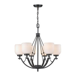 World Imports - Bailie II 6-Light Chandelier, Oil Rubbed Bronze - All metal construction with a bronze finish