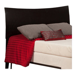 Atlantic Furniture - Atlantic Furniture Soho Twin Headboard in Espresso-Queen - Atlantic Furniture - Headboards - R191841 - The Soho headboard is a curved sleigh style bed with an exquisite finish. The Soho is very rugged and doesnt fall short with its looks.