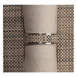 Chilewich - Chilewich   Napkin Rings S/4, Linen - Chilewich   Napkin Rings S/4   Linen