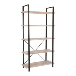 Safavieh - Safavieh Westbury 5-level Etegere - Add style to your home with the contemporary, five-level bookcase. Standing 65 inches tall, this bookshelf features solid wood shelves with iron support and offers plenty of room for showcasing books, magazines, pictures, or other home decor.