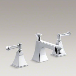 KOHLER - KOHLER Memoirs(R) widespread bathroom sink faucet with lever handles - Memoirs faucets with Stately design offer a refined elegance for your bath or powder room. Embodying the collection's sophisticated styling, this Memoirs bathroom sink faucet is outfitted with a classic spout and ergonomic lever handles for easy operation