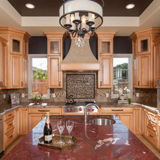 Mediterranean Kitchen by Precision Cabinets