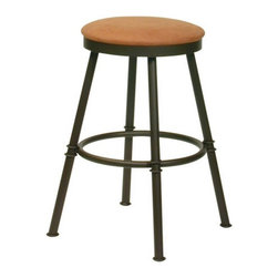 Trica - Trica Sal Swivel Backless Bar Stool - *Available in counter, bar or spectator height