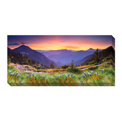 None - Mountain Landscape Oversized Gallery-Wrapped Canvas Art - Artist: Leonid TitTitle: Mountain LandscapeProduct type: Gallery-wrapped canvas art