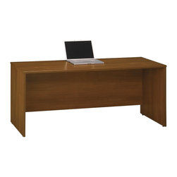 "Bush - Bush Series C 72""W Credenza Shell in Warm Oak - Bush - Computer Desks - WC67526"