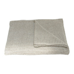 Area Inc. - Theo Multi-F/Q-Blanket - Area Inc. - Drape your full or queen size bed with the Theo Multi Blanket. Made from 100% cotton, this blanket has a mid-weight, mixed color weave in soft white, gray and brown. Its simple, natural look pairs well with decor that has neutral colors and clean lines.
