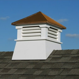 """Homeplace - Claremont Cupola with Copper Roof - Features: -Material: Resin, copper. -Enhances your garden shed and provides an upscale designer look. -Premium quality rigid resin is maintenance free. -UV protection to prevent fading. -Can be cut to fit any roof pitch up to 10/12. -Dimensions: 26"""" H x 22"""" W x 22"""" D."""