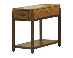 Riverside Furniture - Riverside Furniture West End Chairside Table in Heirloom Russet - Riverside Furniture - End Tables - 5910 - The Arkansas River Valley is home of majestic forests, ruggedly beautiful mountains, gurgling brooks and swiftly flowing rivers. It is also the home of Riverside Furniture Corporation. But like they would with any old friend, most folks refer to us just by our first name.