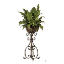 Uttermost - Uttermost 60090 Costa Del Sol Potted Greenery - Uttermost 60090 Costa Del Sol Potted Greenery