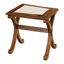 Standard Furniture - Standard Furniture Barcelona 24 Inch End Table in Cherry - Barcelona serves a rare balance of traditional form and contemporary function. Quality veneers over wood products and select solids used throughout. Cherry color finish. Surfaces clean easily with a soft cloth.