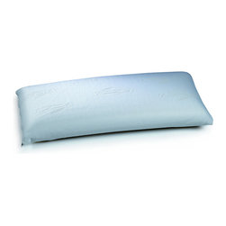 DreamPur - Dreampur VDRM002 31 Inch x 14 Inch Queen Pillow - Dreampur pillows are designed with your comfort in mind. Made with a breathable, high-density polyurethane material. Dreampur pillows mold to your body's shape for superior comfort and adjust to your body's temperature for a cool sleeping experience. As a leading lightweight pillow in today's market, the Dreampur pillow reduces up to 60 percent of physical movements that disturb sleep and relieves pressure along the head, neck and shoulders. With a variety of sizes available to suit your sleep style, the Dreampur pillow brings the benefits of better sleep. This Queen size pillow measures 31''x14''x5''. A popular choice among Dreampur pillows. Comes with a removeable cover. Pillow (1)