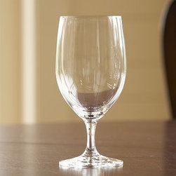 """Schott Zwiesel Goblet, Set of 6 - Enjoy your favorite beverages in our beautiful Schott Zwiesel goblets, specially designed to resist breakage. 3.5"""" diameter, 7"""" high; 15 ounce capacity Made of Tritan(R) crystal. Set of 6. Watch a video about the beauty and durability of our {{link path='/stylehouse/videos/videos/pbq_v14_rel.html?cm_sp=Video_PIP-_-PBQUALITY-_-SCHOTT_BEAUTY_DURABILITY' class='popup' width='950' height='300'}}Schott Zweisel stemware{{/link}}. Monogramming is available at an additional charge. Monogram will be centered on the side of each glass. Made in Germany."""