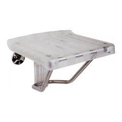 DreamLine - DreamLine SHST-01-PL Shower Seat Shower Seat - DreamLine Plastic Folding Shower Seat