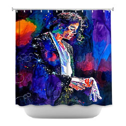 DiaNoche Designs - Shower Curtain Artistic The Final Performance Michael Jackson - DiaNoche Designs works with artists from around the world to bring unique, artistic products to decorate all aspects of your home.  Our designer Shower Curtains will be the talk of every guest to visit your bathroom!  Our Shower Curtains have Sewn reinforced holes for curtain rings, Shower Curtain Rings Not Included.  Dye Sublimation printing adheres the ink to the material for long life and durability. Machine Wash upon arrival for maximum softness. Made in USA.  Shower Curtain Rings Not Included.
