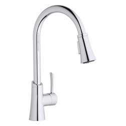 Elkay - Single Lever Pull Down Kit Faucet CR - Product height: 2.76. Product min width: 11.02. Product depth: 27.56sgl lvr pd kit fct cr. Elevate the culinary experience with the professional grade gourmet collection. Meticulous attention to form and function creates a new standard for the connoisseur. Gourmet pull-down kitchen faucet 14 gauge.