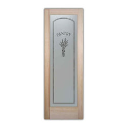 Sans Soucie Art Glass - Pantry Door Bundled Wheat Petite Glass Door, 24 X 1.375 X 80 - Pantry Door - Bundled Wheat Petite - Quality, hand-crafted sandblast etched glass.