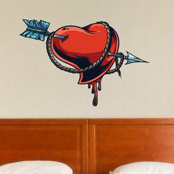 Heart Vinyl Wall Decal HeartUScolor007; 72 in. - Vinyl Wall Decals are an awesome way to bring a room to life!