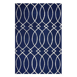 nuLOOM - 5'x8' Navy Hand Hooked Area Rug BC69 - Made from the finest materials in the world and with the uttermost care, our rugs are a great addition to your home.